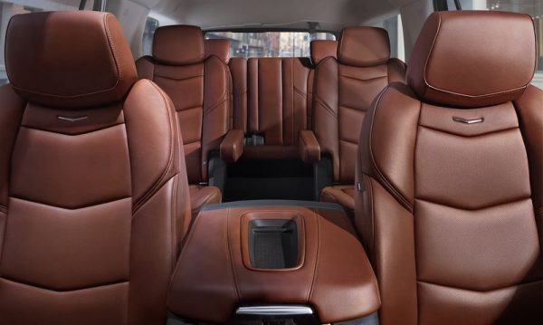 Craftsmanship defines the Escalade's passenger space. The seats are sculpted in appearance and feature a reclining second row. The design incorporates dual-firmness foam that ensures long-trip comfort and helps retain appearance over time.