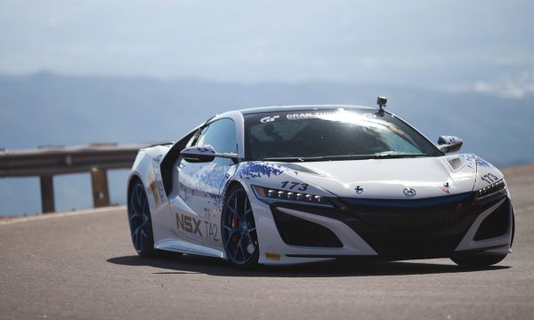 The 2017 Acura NSX of Nick Robinson on its way to a class victory at the Pikes Peak Hill Climb