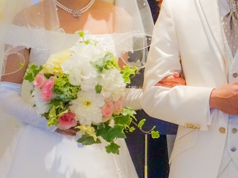 結婚式の二人1